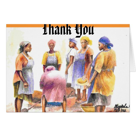 woman of african 2, Thank You Card