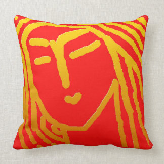 Woman of Bengal Throw Pillow