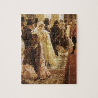 Woman of Fashion by Tissot, Vintage Victorian Art Jigsaw Puzzle