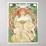 Woman of Leisure Alphonse Mucha Illustration