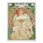 Woman of Leisure Alphonse Mucha Illustration Posters
