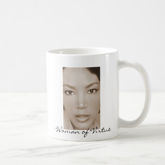 Woman of Virtue Line Classic White Coffee Mug