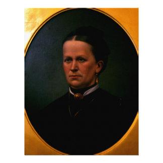 Woman, old oil portrait letterhead