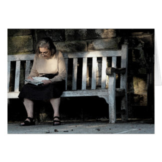 Woman on a Bench Card