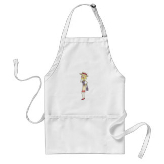 WOMAN ON CELLPHONE ADULT APRON