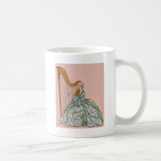Woman on Harp Coffee Mug