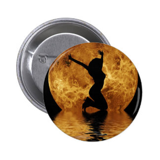 woman on moon button