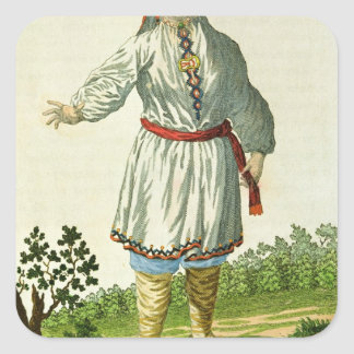 Woman peasant's summer costume, Cheremes Tribe Sticker