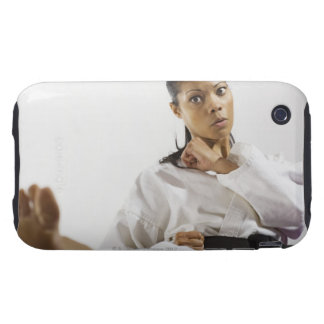 Woman performing martial arts 2 tough iPhone 3 cover