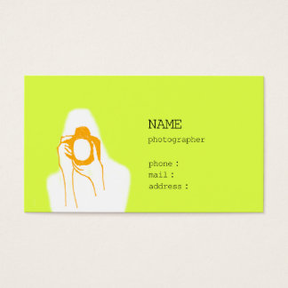 woman photographer business card