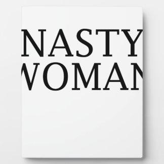 woman plaque