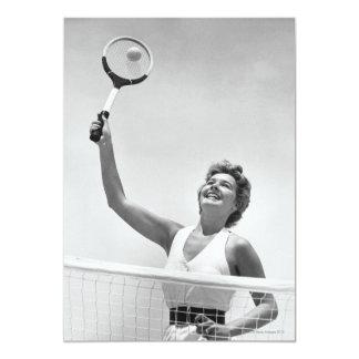 "Woman Playing Tennis 2 5"" X 7"" Invitation Card"