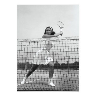 "Woman Playing Tennis 5"" X 7"" Invitation Card"