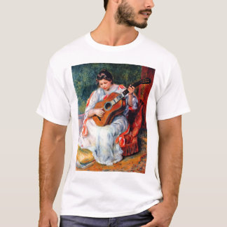 Woman Playing The Guitar by Pierre Renoir T-Shirt
