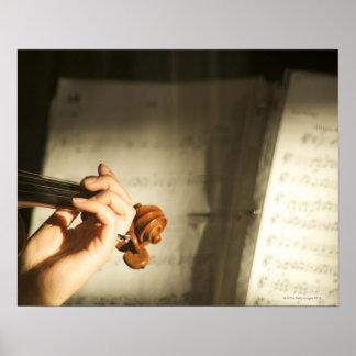 Woman Playing Violin Poster