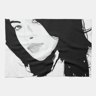 woman portrait beauty towels