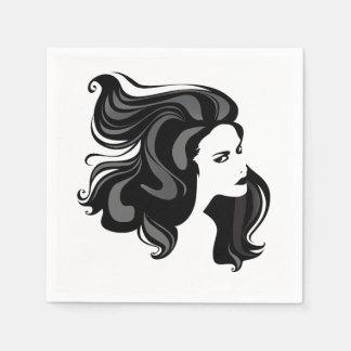 Woman Portrait Paper Napkins