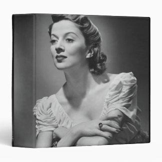 Woman Posing in Studio 3 Ring Binders