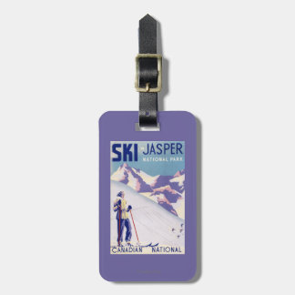 Woman Posing Open Slopes Poster Luggage Tag