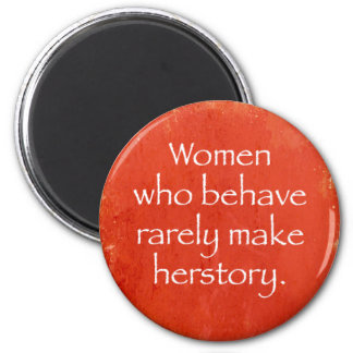Woman Power 2 Inch Round Magnet
