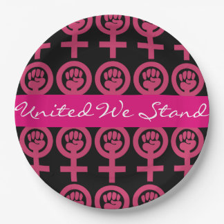 Woman Power Add Your Own Message 9 Inch Paper Plate