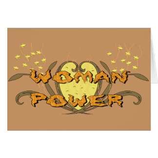 Woman Power Card