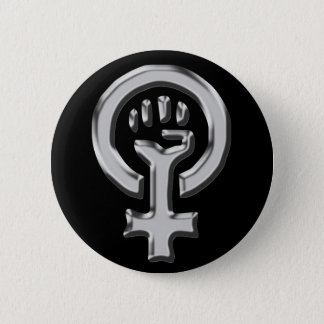 Woman power chrome button