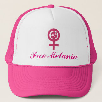 Woman Power Emblem Add Your Own Message Trucker Hat