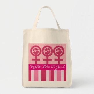 Woman Power Emblem Grocery Tote Bag