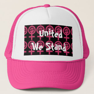 Woman Power Emblems Add Your Own Message Trucker Hat