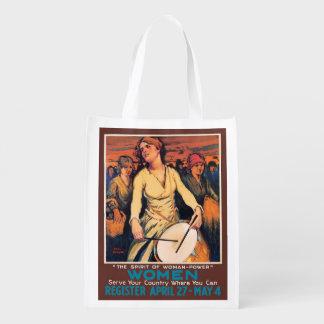 Woman Power Reusable Grocery Bag