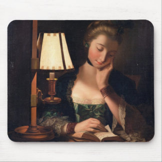 Woman Reading by a Paper-bell Shade, 1766 (oil on Mouse Pad