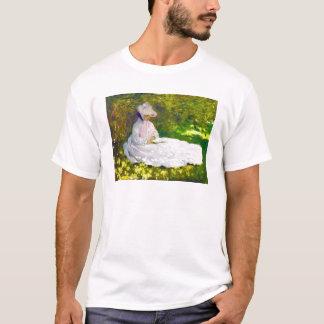 Woman Reading  Claude Monet T-Shirt