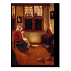 Woman Reading'_Dutch Masters Postcard