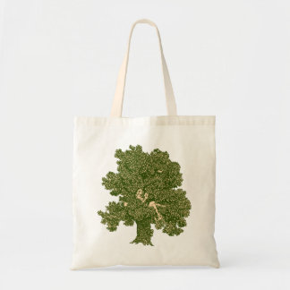 Woman reading in tree tote bag