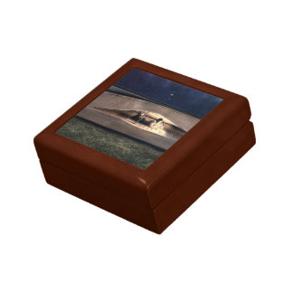 Woman Reading Inside Book at Night Gift Box