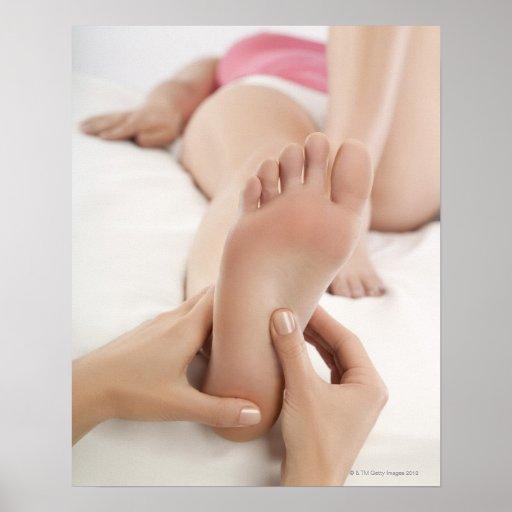 Woman Receiving Foot Massage Print