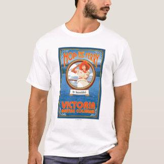 Woman Riding Ferry - Victoria, BC Canada T-Shirt