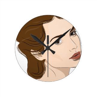 woman round clock