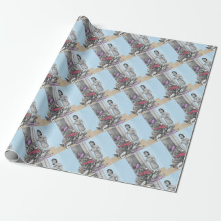 Woman's Stuff Falls Out of Closet Wrapping Paper