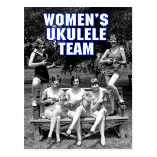 Woman s Uke Team Postcard