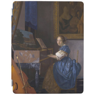Woman Seated at a Virginal by Vermeer iPad Cover