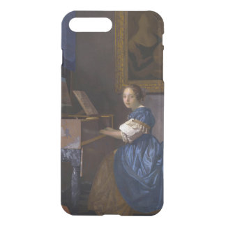 Woman Seated at a Virginal by Vermeer iPhone 7 Plus Case