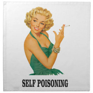 woman self poisoning napkin