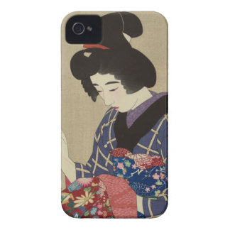 Woman Sewing, Itō Shinsui - Japanese Woodblock iPhone 4 Case-Mate Case