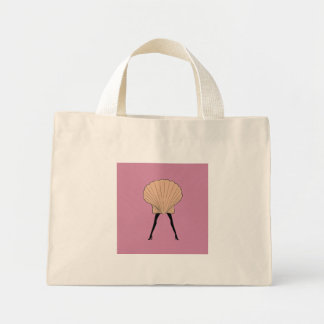 Woman shell mini tote bag