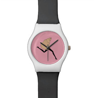 Woman shell watches