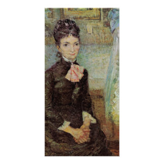Woman Sitting by a Cradle by Vincent van Gogh Photo Card Template