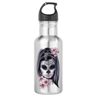 Woman skeleton mask 532 ml water bottle