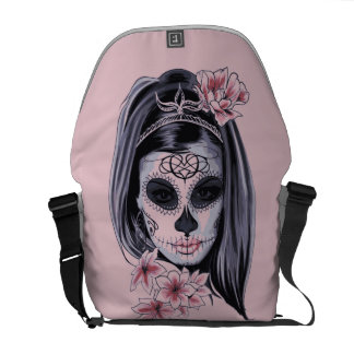 Woman skeleton mask commuter bags
